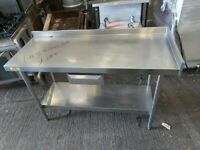 Bartlett Commercial stainless steal table worktop kitchen table work bench 148cm