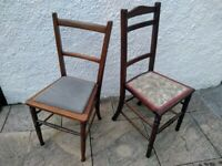 2 x Petit Wooden Dining Chairs