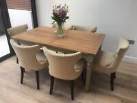6 Designer Dining Chairs in cream