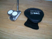 WHITE HOT ODYSSEY 2 BALL PUTTER + HEADCOVER -34 INCHSHAFT - VERY GOOD CONDITION