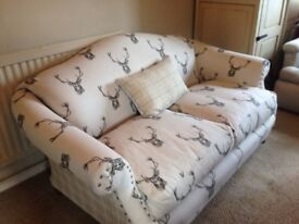 Re-upholstered 2 seater sofa