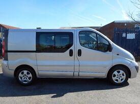 FINANCE AVAILABLE!! NO VAT!! Stunning Vauxhall Vivaro Swb 6 seat crew van with full service history.