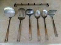 Prestige Stainless Rostfrel Inox Kitchen Utensils x 6