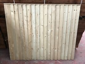 Super heavy duty feather edge fence panels pressure treated green