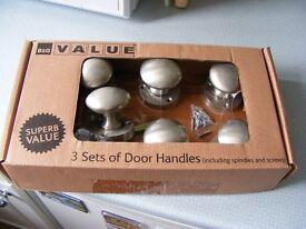 Brushed Steel Door Handles