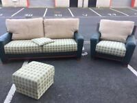 3 Seater Sofa, Chair and Stool