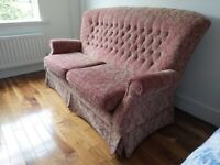 Beautiful Parker Knoll Button Backed 3 piece suite, 3+1+1