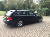 BMW 320d Estate in Black . 2008 2 owners from new. Stop start model with part BMW service history.