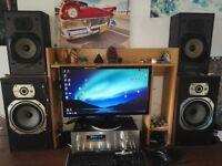 Wharfedale quality speaker set delta 30.2 laser 90B home cinema stereo hifi surround powerful