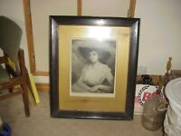 very old framed picture