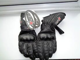 RST Leather motorcycle gloves, Black, Size XXS, never worn