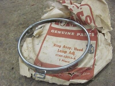 NOS 61 62 63 64 Ford Headlight Door Ring C1AF-13015-A 1961 1962 1963 1964