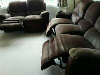 FABRIC ELECTRIC RECLINER SOFAS