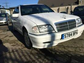 MERCEDES C180 ELEGANCE AUTOMATIC WHITE PETROL IMMACULATE BODY CONDITION 122BHP NATIONWIDE DELIVERY