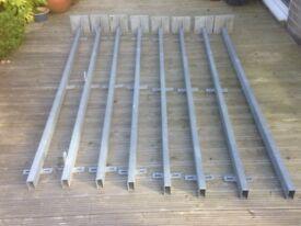 Galvanised steel posts 8 Size 2400mm x 80mm x 40mm