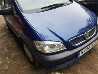 Vauxhall ZAFIRA, 2004 year, Blue colour, selling for Parts