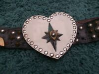 Heart Shaped Studded 'Biker Style' Belt Buckle