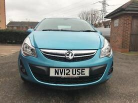 2012 Vauxhall Corsa 1.4 Automatic SE 5dr Blue only 32K Mileage Part Ex Welcome