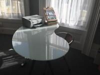 Glass Desk and chair Ikea