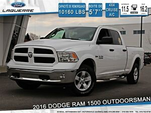 2016 Ram 1500 *OUTDOORSMAN *4X4*CRUISE*A/C* BLUETOOTH**