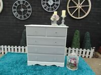 SOLID PINE FARMHOUSE LARGE CHEST OF DRAWERS WITH 3+2 DRAWERS
