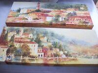 2 X Wooden - Frame Mounted Canvas Prints - John Lewis