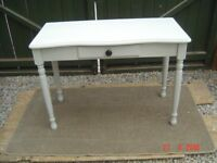 Pine Chalk Painted Table with a Single Drawer. Can Deliver.
