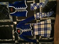 £280 Highland dance full outfit blue Macrae of conchra would suit 4-7 years. Has two pairs of socks.