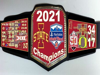 Iowa State Cyclones 2021 PlayStation Fiesta Bowl Champions Championship Belt