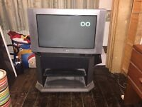"Sony Trinitron Colour Tv (23'' x 13"" screen) and Stand"