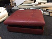 New/Ex Display Large Leather Ottoman Footstool