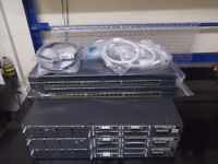 Cisco 3 X 2811 (IOS 15) + 2 X WS-C2950-24 + Cables Good for CCNA CCNP Lab Small/Medium businesses