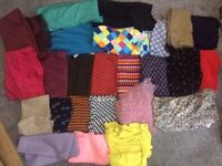 Fabric material job lot cottons, jersey, net, felt, doll making quilting patchwork sewing crafting