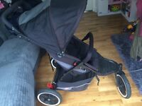 Phil and Ted double pram pick up Ardrossan or Bearsden