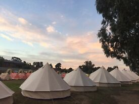 Workers needed to setup Glamping area