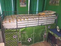 Single mid sleeper with mattress. £50
