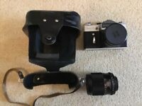 Zenit E Camera with original leather case plus zoom lens as shown