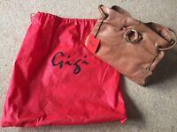 New Gigi Light Brown Leather Handbag with tags