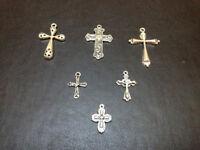 6 alloy crosses necklace pendants