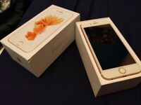 *Apple iPhone 6S rose gold 64gb, UNLOCKED boxed charger fully working