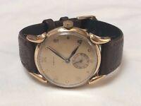Vintage mens gold watch