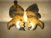 Wooden Carved Wall Figures
