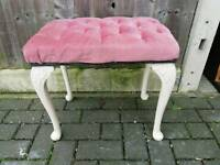 Vintage dressing table stool. Legs need tightening up