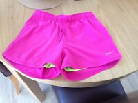 Nike Girls Pink Dri Fit Shorts Size Large Age 12-13 years
