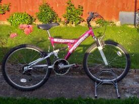 GIRLS TEENAGER YOUTH FALCON KORO 24 INCH WHEELS 15 INCH FRAME 18 SPEED BIKE BICYCLE