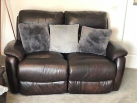 3+2 Brown Leather Navona Recliner Sofa