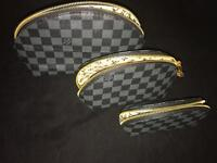 LV Makeup Toiletries Bag Set
