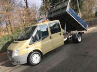 2009 FORD TRANSIT DOUBLE CAB TIPPER 2.4 100 T350 ** NO VAT