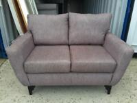 Brown Fabric 2 Seater Sofa (Ex display)