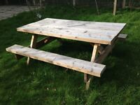 HAND MADE 6FT PICNIC BENCH £50
